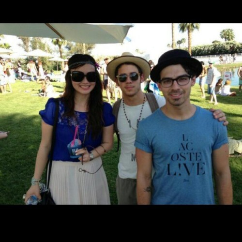 thejonasbrothersphotos:  Joe AND NICK at Coachella!!