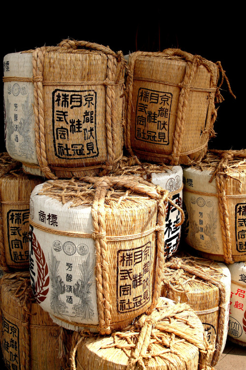 sake barrels (by Gaijin Photographer)