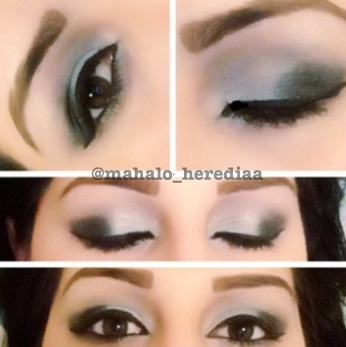 makeupftw:  Black & Grey smokey eye