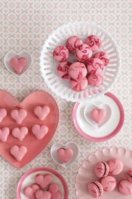 Gorgeous Heart Shaped Macarons!