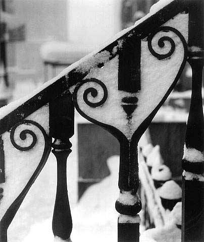 Ida Wyman: Wrought Iron in Snow, New York, 1947