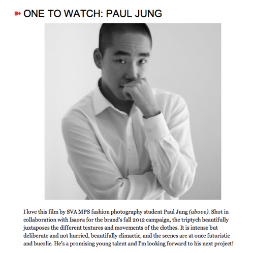 Paul Jung on wmagazine.com!