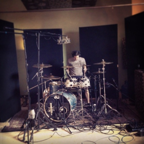 Day 1 at the studio. Drums today, more updates along the way.