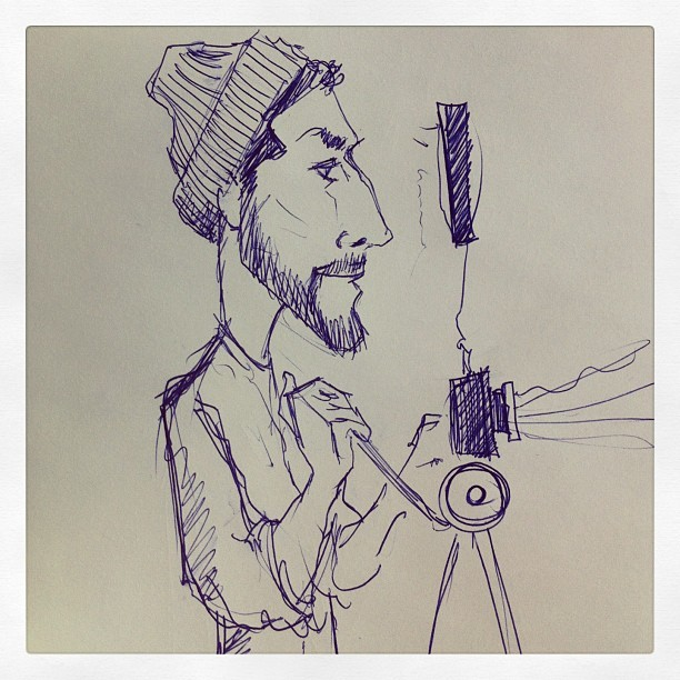 Someone sketched me today while filming. Haha pretty accurate.  #cartoon #sketch