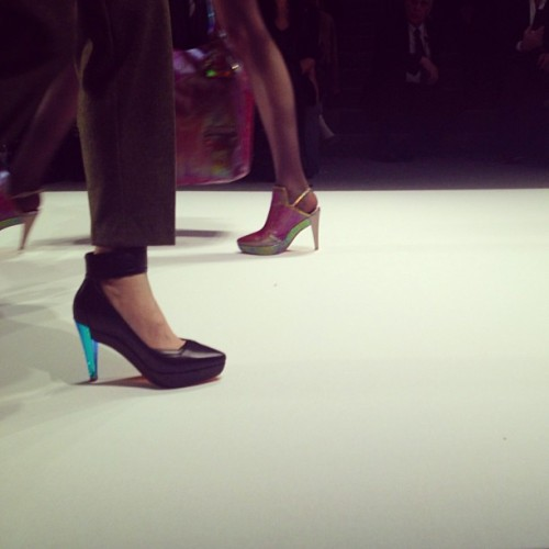 bergdorfgoodman:  Shoes on @nanettelepore 's red planet. #nyfw    //