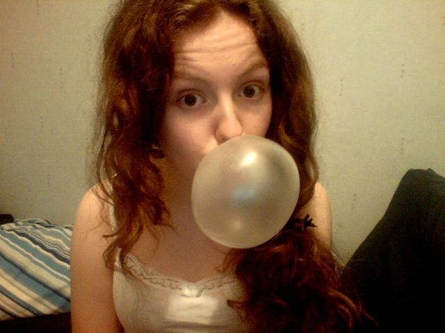 And bubble blowing champion has arrived