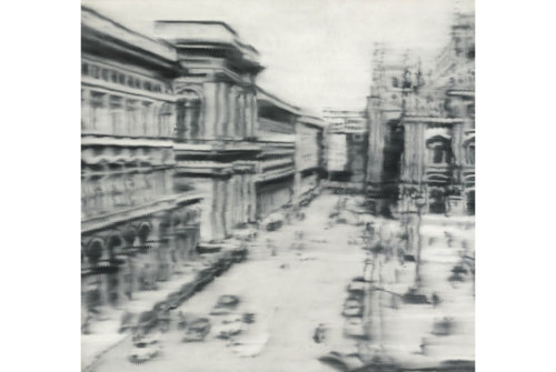 Gerhard Richter, Domplatz, Mailand. Oil on canvas, 108x114 in.