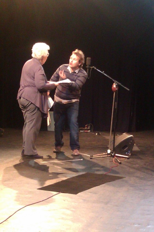 thepenultimaterolo:  John Finnemore as Arthur, miming 'dragon fruit'.  Yay someone caught what that looked like