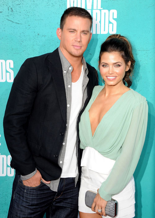 Congrats to expectant parents Channing Tatum and Jenna Dewan-Tatum!  We could definitely tell by the way Jenna touched her stomach at Divas last night…