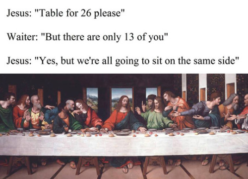 Jesus: every server's nightmare. (via eraser411)