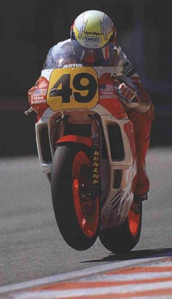 hitting the powerband …John Kockinski, Roberts-Yamaha YZR500, 1989 Belgian 500cc Grand Prix, Francorchamps Kocinski's first outing in 500cc racing after having already done some 250cc wild card appearances in '88 & '89a year later he would attend full time in the 250cc World Championship, winning it in his first attempt