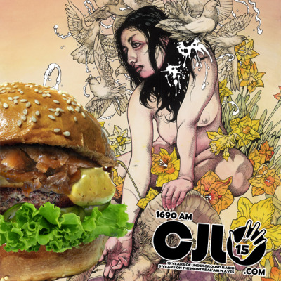 KVELERTAK. BURGERS. THINGS. As you may or may not know, CJLO is celebrating a birthday this year. We have officially been on the air in Montréal for 5 years, and it's been 15 years that CJLO in its current form has existed. To celebrate, we'll be throwing events all year, which brings me to the next item of business… Tonight, on my show, BVST (7 to 9 ET, CJLO 1690AM in Montréal, cjlo.com worldwide), I'll be premiering selected tracks from the brand new Kvelertak record, Meir, which will be released in about two weeks. I've been listening to it for a month or so now, and trust me, you will not be disappointed! I'll be playing the record in anticipation of the upcoming Roadrunner Records / CJLO 1690AM listening party, which will be happening March 27th at Katacombes, and which will feature the new Kvelertak album as well as Disarm the Descent, the new Killswitch Engage record. The party starts at 7pm, there will be CJLO DJs spinning metal all night, prizes & giveaways galore, and admission is free, so c'mon down! Here's a link to the Facebook event, if you're into that kind of thing. Finally, if all of this got you feeling a little hungry, you need to head over to Le Gourmet Burger (1433 Bishop) and grab yourself the official CJLO burger, with melty Cheddar, spicy Jalapeños, fresh Lettuce and delicious caramelized Onions (see what we did there?). You can get it on your choice of beef, chicken, bison or veggie burger, and I highly recommend getting the combo (which includes fries and a delicious house-made ice tea or lemonade). To summarize:  TONIGHT: brand new Kvelertak tracks on CJLO from 7 to 9pm ET. MARCH 27TH: awesome listening party for Kvelertak / Killswitch Engage at 7pm. RIGHT NOW UNTIL APRIL 12TH: delicious CJLO burgers!
