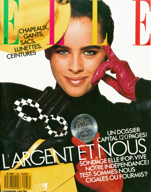 Elle France, November 1987Model : Patty Sylvia