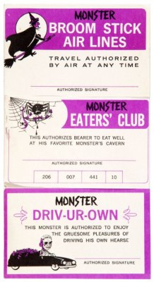 cryptofwrestling:  Monster I.D. Cards (1963)