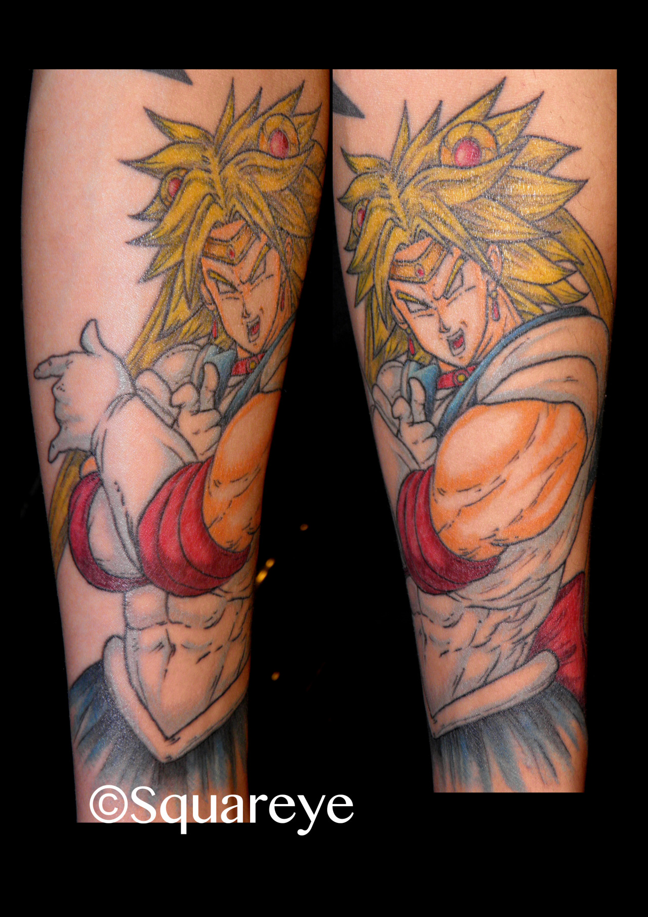 when Broly (DBZ) meets Sailor Moon!!!! yes, my friends… half-sleeve in progress :)