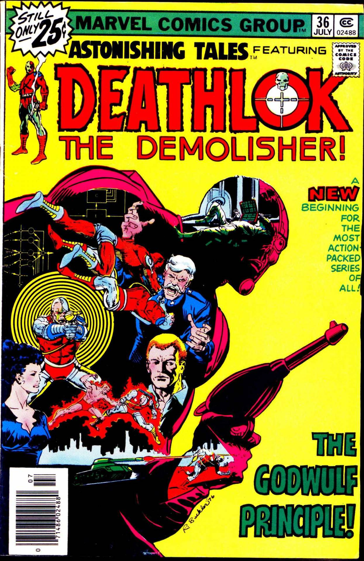 comicbookcovers:  Astonishing Tales #36, Featuring Deathlok The Demolisher, July 1976, cover by Rich Buckler