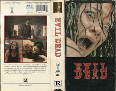 Vintage Evil Dead remake VHS Sleeve Two more days, two more days, two more days