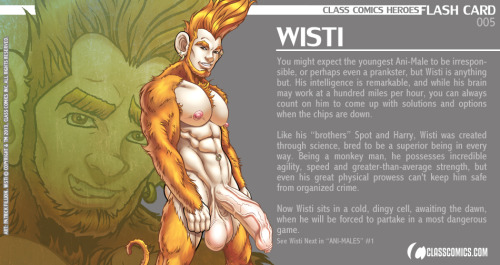 Class Comics Heroes FLASH CARD 005 - WISTI This is the last Card in Wave 001! Wave 002 coming soon.  Wisti © Copyright and TM 2013, Class Comics Inc. All rights reserved. www.classcomics.com