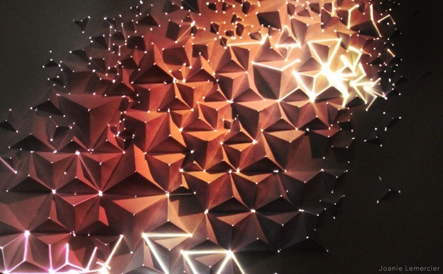 artstech:  AntiVJ's Joanie Lemercier Maps Light Projections To 3D Origami Walls (via AntiVJ's Joanie Lemercier Maps Light Projections To 3D Origami Walls | The Creators Project)