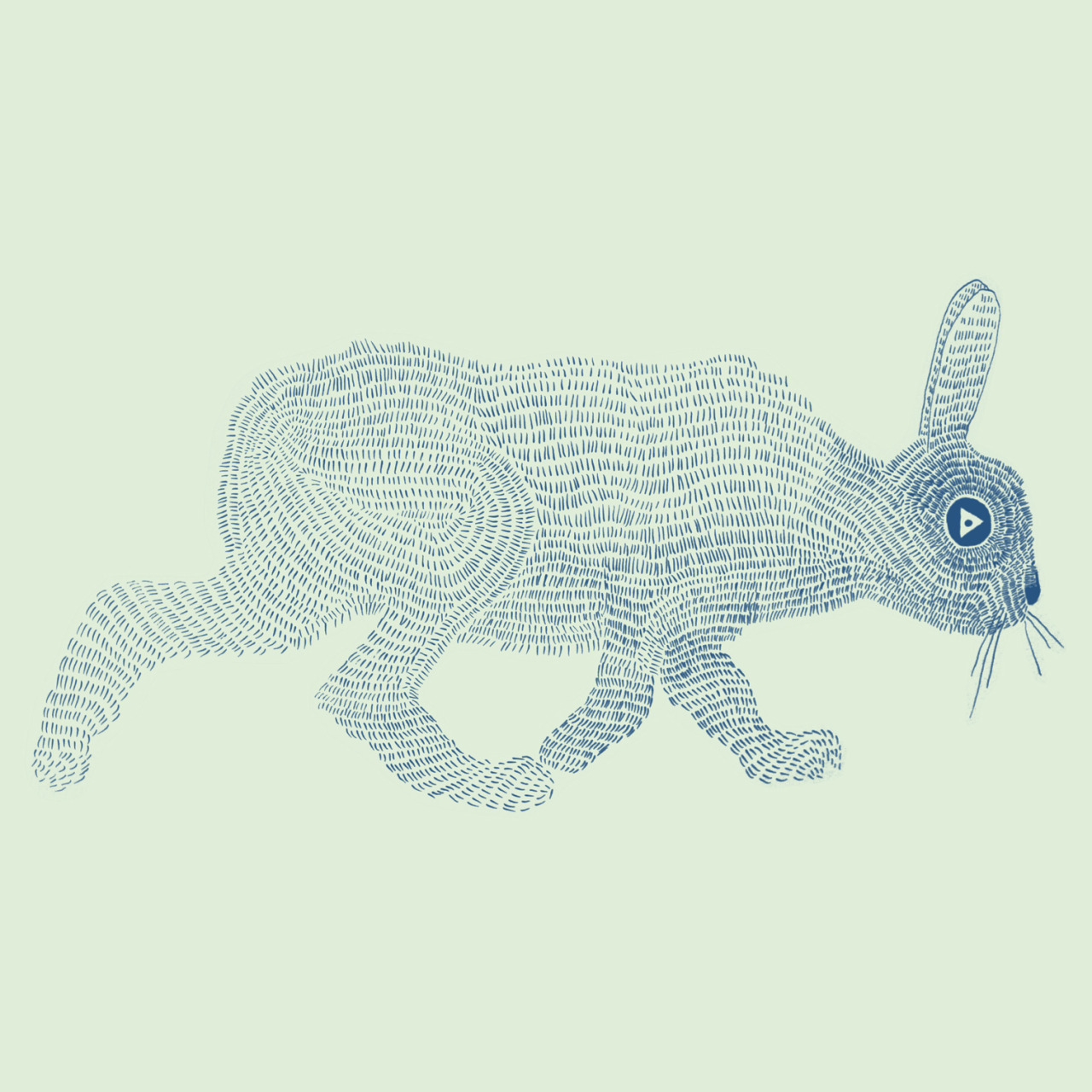 mountain hare. (Drawing 2013, original made with dip nib pen and black indian ink)