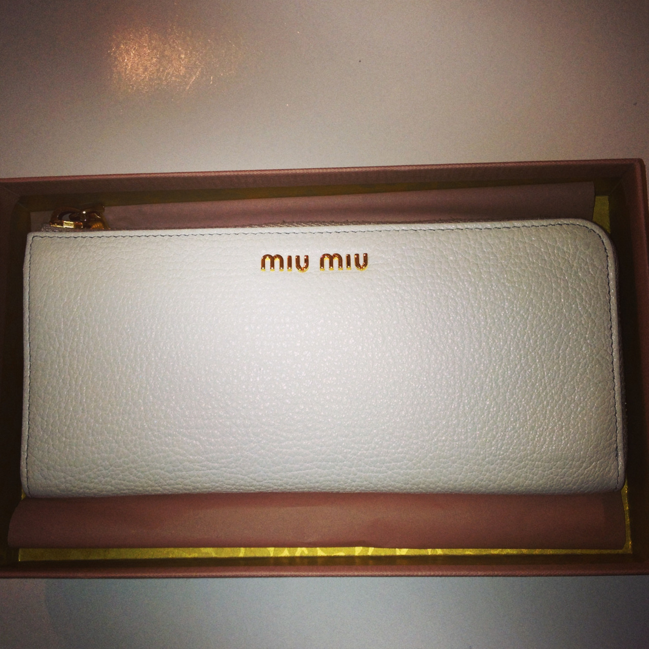 I don't usually post things I buy on here but LOOK AT MY BEAUTIFUL NEW MIU MIU   *kelly clarkson's a moment like this plays softly in the background*
