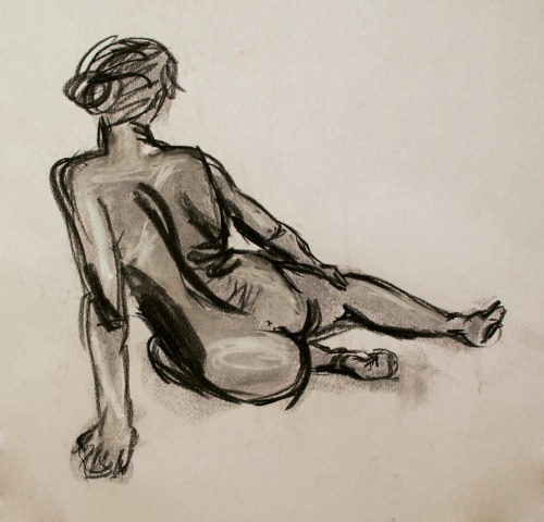 Life drawing…(before I learned to draw hands)