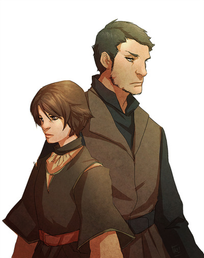 denimcatfish:  Trying to get my groove back from an artblock. Arya and Gendry.