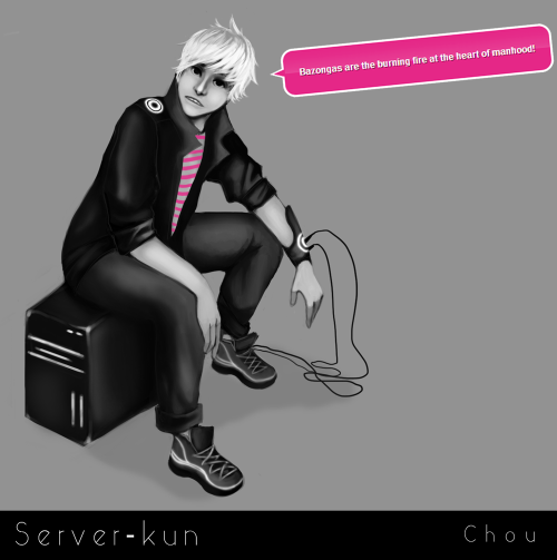 Server-kun for The Colorless Design contest.  I see so many errors in this. Ughu.