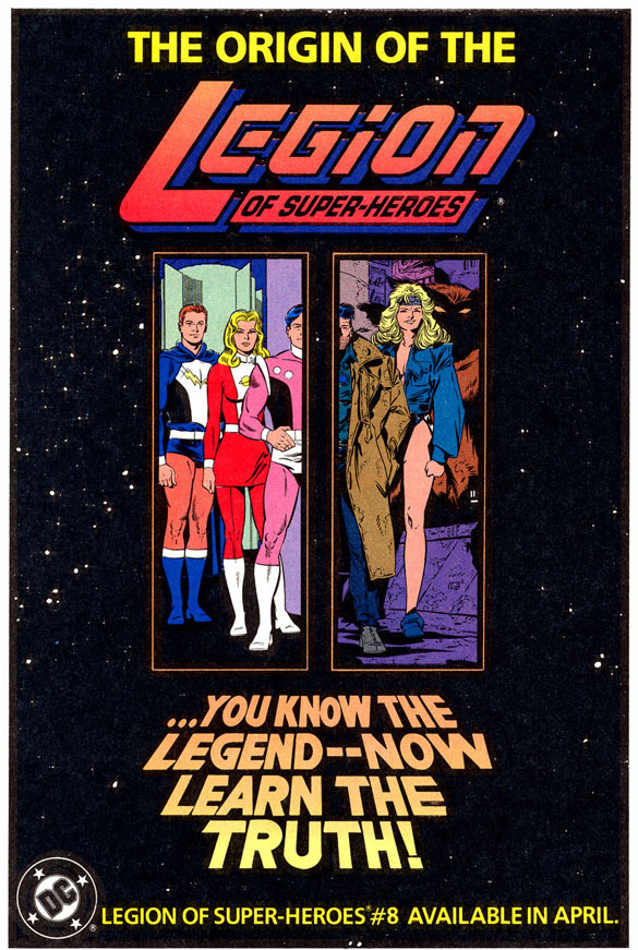 House ad for Legion of Super-Heroes v.4 #8 (June 1990)
