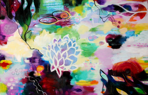 "thelookingglassgallery:  ""Flow Be"" by Denise Michelle"