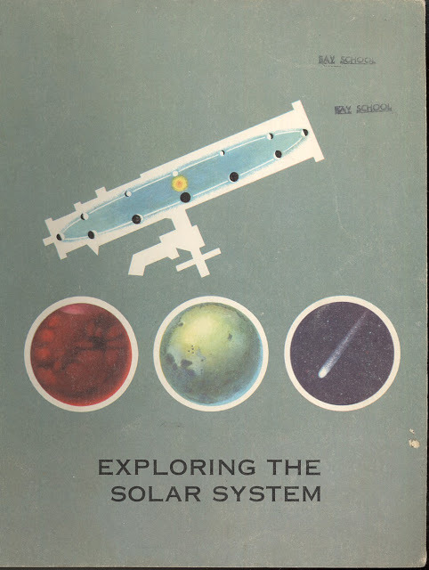 Dreams of Space A design and space science grand slam, behold these 1965 Looking Into Science textbook supplements. Originating in California, they are a memory of a time perhaps more creative and ambitious, in science and in art. But as any reader of this or the many other blogs who feature science art knows, the talent evident in today's works signal that there's a wave of change coming. Sometimes, the best way to inspire the mind is to inspire the soul, for they never truly act alone. If you love these, then immerse yourself in Dreams of Space, a blog dedicated solely to nonfiction children's space flight books from 1945-1975. Especially be sure to check out this Czech pop-up book.
