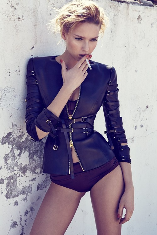 stormtrooperfashion:  Adriana Cernanova by Branislav Simoncik for ELLE Czech, May 2013