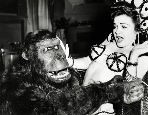 Doris Houck fights off Emil the Gorilla at Florentine Gardens. Photo by Joseph Jasgur c. 1942
