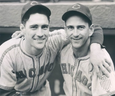 White Sox Luke Appling and Orville Grove, 1943, Chicago