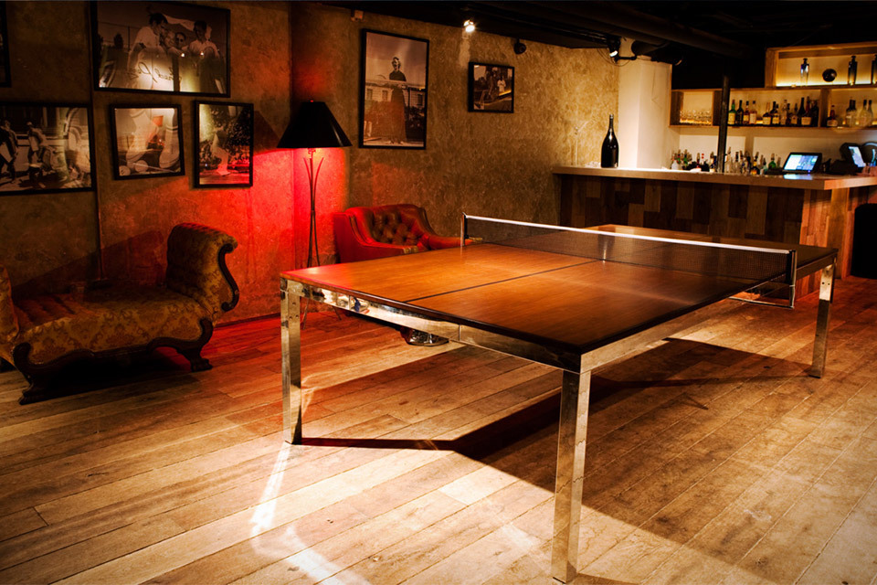 Sweet Ping Pong Table.  The wood top is fantastic.