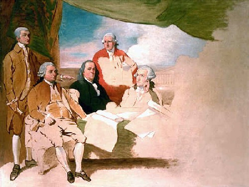 "Sept. 3, 1783: Treaty of Paris Ends the Revolutionary War  On this day in 1783, the Revolutionary War between the United States and Great Britain ended with the signing of the Treaty of Paris.  Watch these Antiques Roadshow clips to see how much this Revolutionary War canteen and sword are worth today. Image: Benjamin West painting titled ""American Commissioners of the Preliminary Peace Agreement with Great Britain"" also sometimes referred to as ""Treaty of Paris"" (unfinished painting — from left to right) John Jay, John Adams, Benjamin Franklin, Henry Laurens, and William Temple Franklin. The British commissioners refused to pose, and the picture was never finished."
