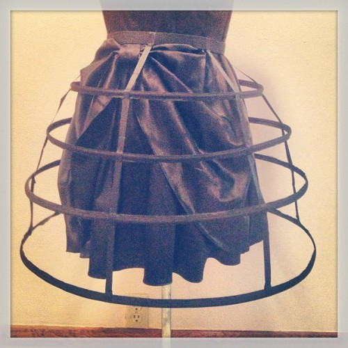 The cage skirt I was commissioned to make last week turned out really nicely! I hope to be making more very soon c: I am taking orders for them now! Message me for info- They will be $75 shipped within the US (ask for intl. shipping cost)They have a comfortable elastic waist that will fit up to a 36-37in waist If you need a larger size I will create one to fit your shape perfectly!Message me here or email me (defective.girl [at] gmail .com)