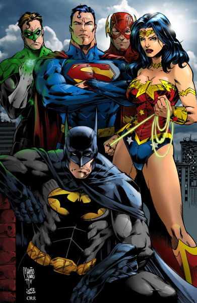 super-hero-center:  Justice League by ~scroll142