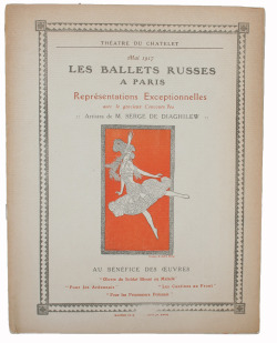 "the May 1917 ""Théatre du Chatelet""- publication that presents Diaghilev's ""Ballets Russes"" in Paris"