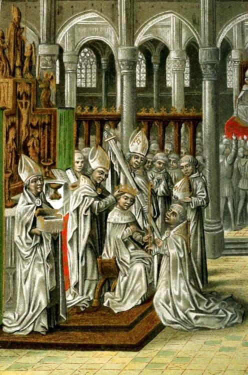 The Coronation of Henry IV of England from 15th century manuscript of Jean Froissart's Chronicles
