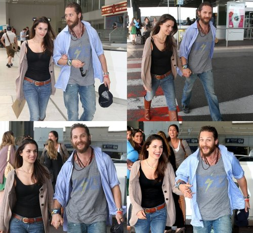 I love these photos of Tom & Charlotte at the airport in Nice last year: Tom goes from looking quite stern, to a little happy, to very happy to INSANELY happy. Hilarious and adorable.