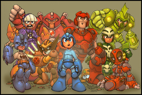 """Megaman MegaMix""  Lines by *Red-J [Blog], & Colours by ~-seed-"