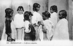 Coiffures Malgaches, c. 1910 [Source: Smithsonian Archives]