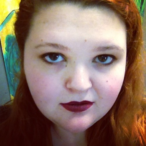 This lipstick makes me look a bit goth because I'm so pale