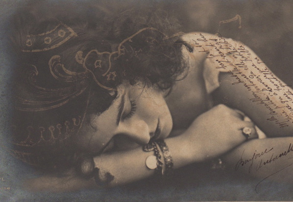 maudelynn:  Sleeping Beauty  1910s postcard