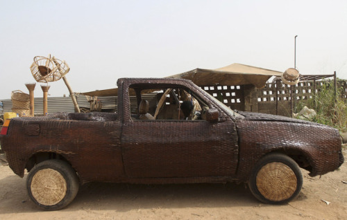 (via wicker-covered car by ojo obaniyi)