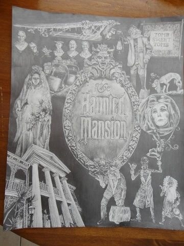 Hand drawn with pencil. The Haunted Mansion.   https://www.facebook.com/TheConcentratingArtist