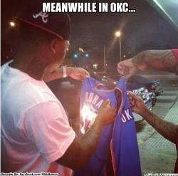 thenbamemes:  Thunder Nation Logic?  Lmao