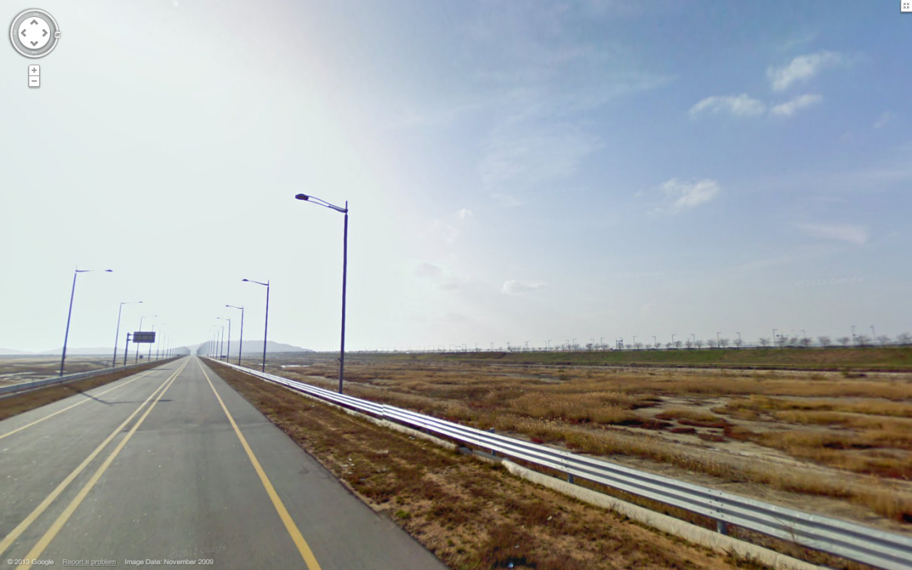 Long straight road, Incheon, South Korea