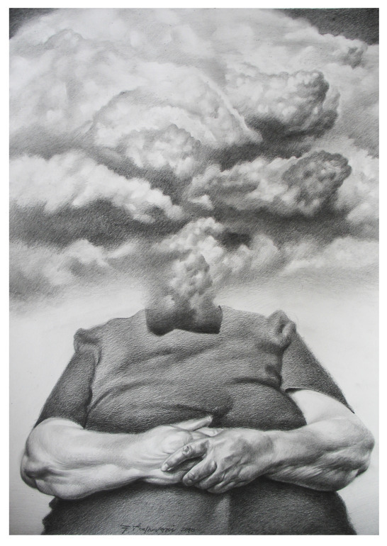 2headedsnake:  Goce Trajkovski Eruption pencil on paper